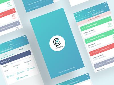 Inspection App UI flat app ux typography ui logo design
