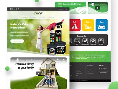Powair Web Application web website branding ui ux typography design