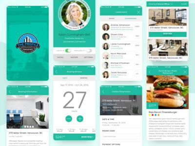 The Profile Application UI minimal flat app ux ui typography design