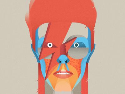 Bowie Casmiclab portrait ripziggy ziggy ripbowie davidbowie