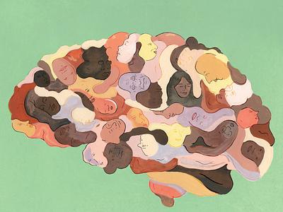 memories alzheimers illustration analog nostalgia illustration