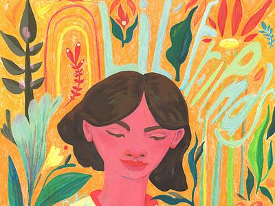 Lil' Friends girl illustration plants imagination artwork childrens illustration colorful illustration