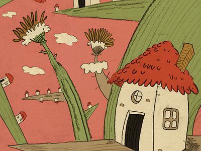 Little House artbook women in illustration whimsical childrens illustration traditional art colorful illustration