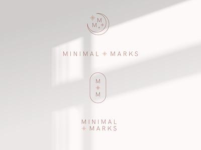 Minimal Marks Logo Options minimal zodiac celestial boutique skincare flat design mark branding and identity branding girly soft initial chic feminine monoline m logo logo moon