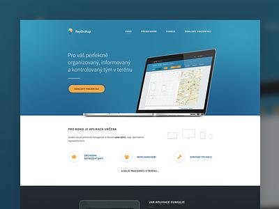 Homepage for IS app homepage website