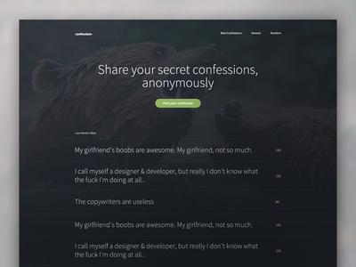 Confessium website bears homepage