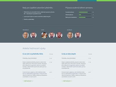 Class Profile website graph university wip