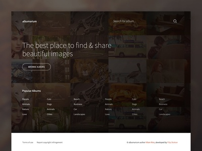 Albumarium Homepage website freebie free images