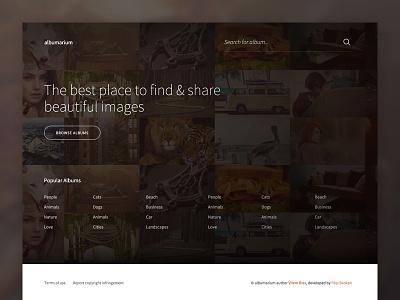 Albumarium Homepage website freebie free images