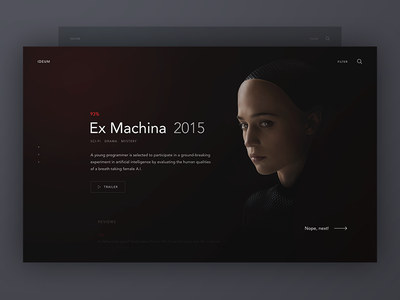 Movium dark ui minimal movies website