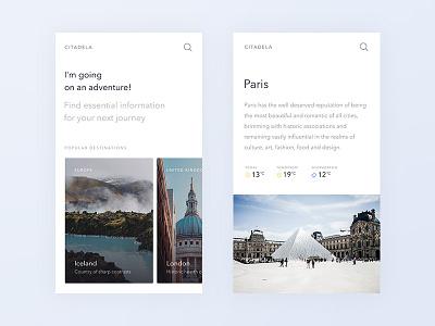 Citadela cards city guide paris images mobile responsive website city travel