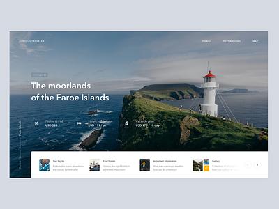 Faroe Islands background image website trip header guide blog travel