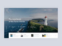 Faroe Islands background image website trip header guide blog travel