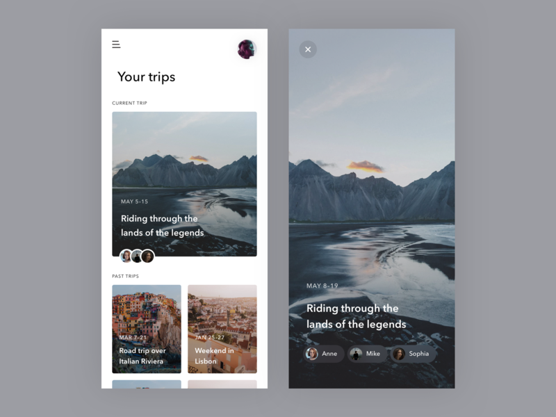 Wander app remember background blur trip landing iceland diary ios app mobile travel