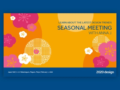 Key visual for a seasonal meeting