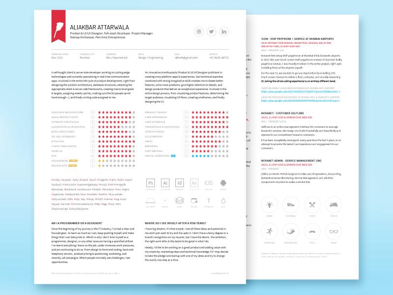 CV | Resume | Portfolio - Freebie typography cv resume portfolio free freebie social print flat icons clean