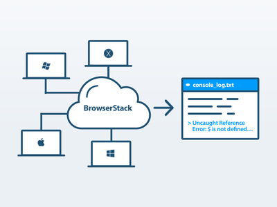 Illustration for BrowserStack Console Logs API ui blue illustration onboarding browserstack