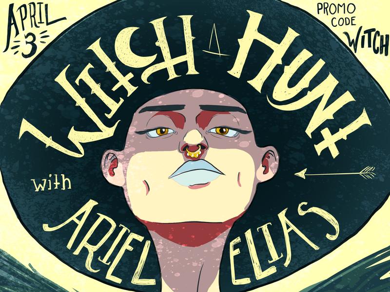 Witch Hunt NY April '19 color handlettering branding typography poster art poster marketing flier design art illustration
