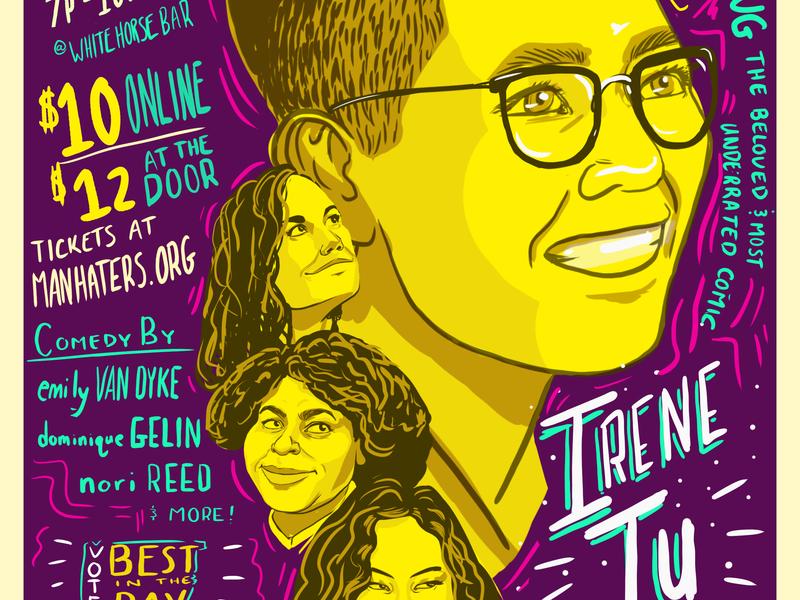 Man Haters comedy show 90s handlettering typography poster art poster art design marketing flier illustration