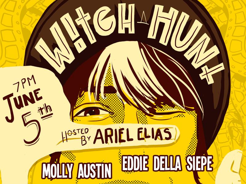 Witch Hunt NY in June 2019 branding handlettering poster art poster typography marketing flier illustration design art