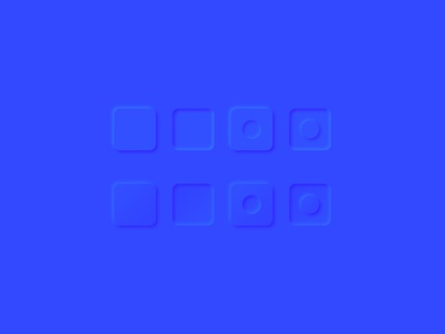 Blue neumorphism exploration