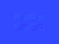 Blue neumorphism exploration