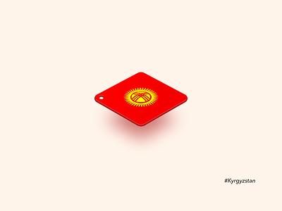 Kyrgyzstan - Tag-Flag Series asia nation symbol perspective icon tag flag kyrgyzstan