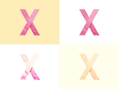 X & Paper texture texture illustration x typography design ui flat
