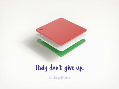 Italy don't give up. manifesto italy