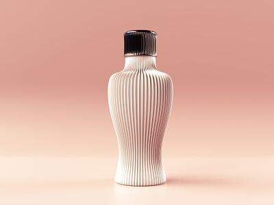 Cosmetic bottle concept product design 3d curves stripes bottle cosmetics product prototype perfume