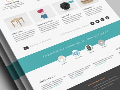 e-commerce hp layout