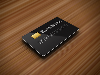 Credit Card - Perspective Template