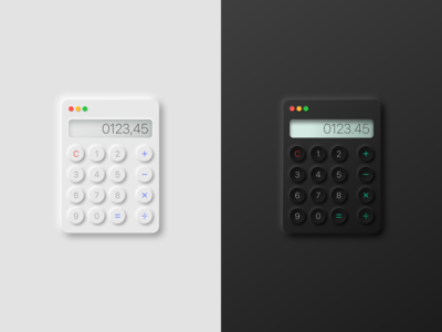 Calculator - Light and dark mode