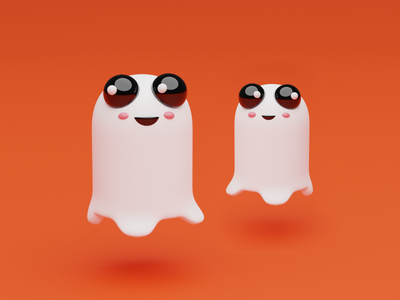 Cleo - The Halloween Ghostling ghost monsters halloween monster dribbble character 3dart illustrator illustration design blender3dart blender 3d blender 3d