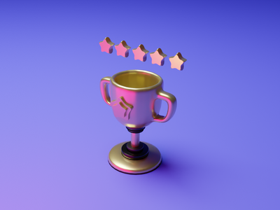 Champions Trophy 3D illustrations illustrator branding 3d artist dribbble ui illustration design blender3dart blender 3d blender 3d