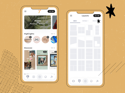 Roosefy - App Design instagram template story app template design maker clean design mobile design