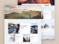 Travel Blog Concept Design