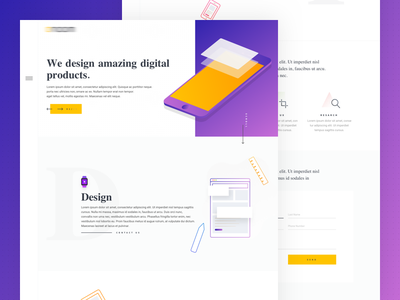 Agency Ui Concept Design web icon layout clean typography ui grid flat design agency