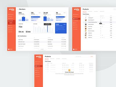 Loyalty Application dashboard orange loyalty program loyalty management ui ux typography design accounting
