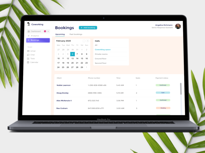 Booking Page for Coworking Space