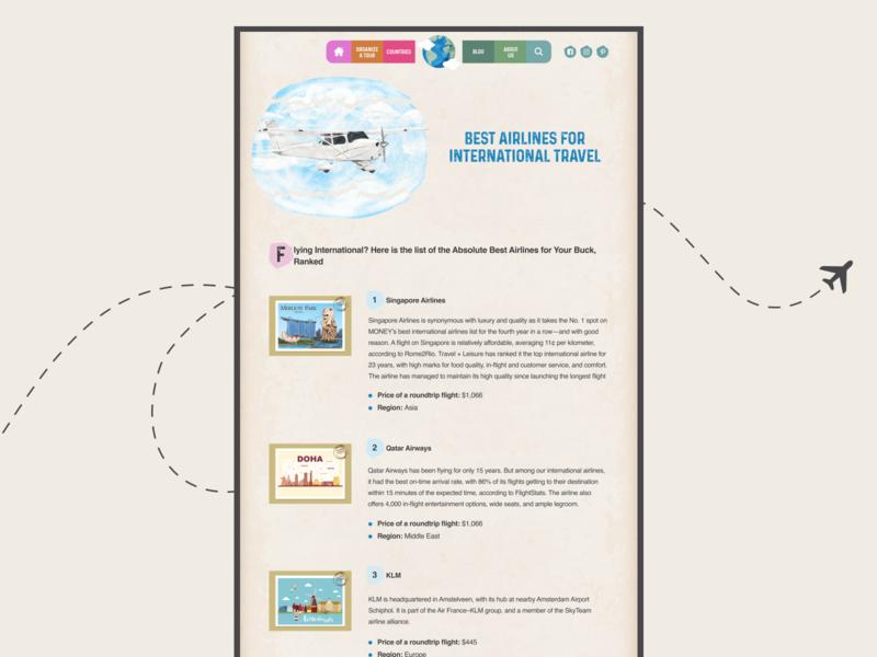 UI Travel site / Web design