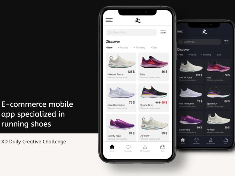 Minimalistic Design of E-commerce Mobile Application