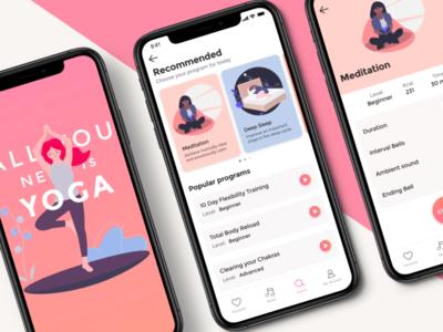 Yoga Application Flat Design