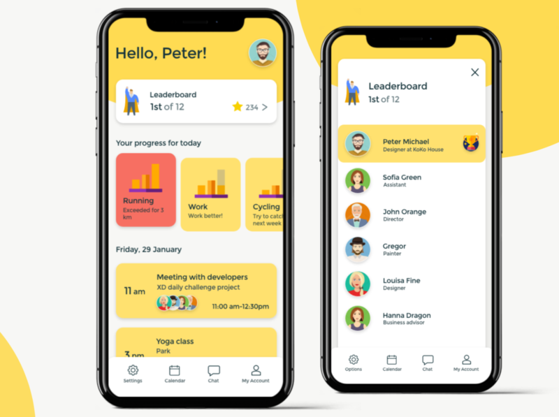 Team challenge mobile application
