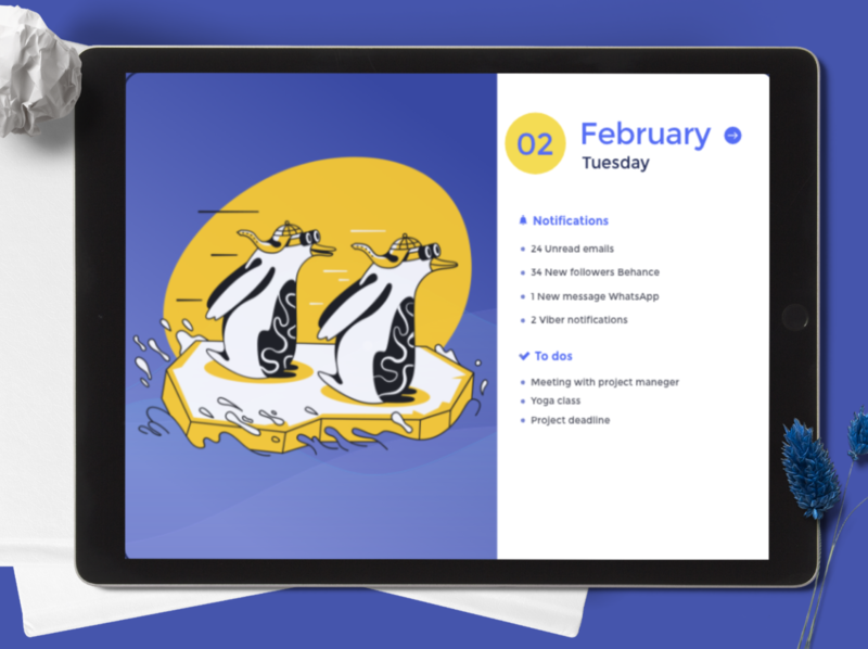 Calendar Welcome Page