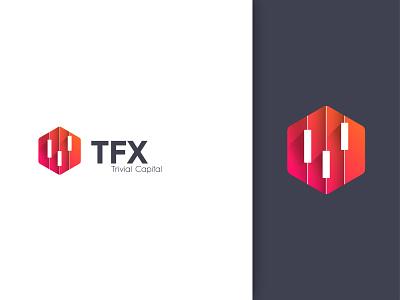 TFX logo design creative design exchange logo trivial logo capital logo t logo graph logo forex trading forex logo