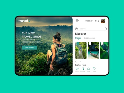 UI for Travel website minimal ui green travel layoutdesign screen design uiux uidesign travel website