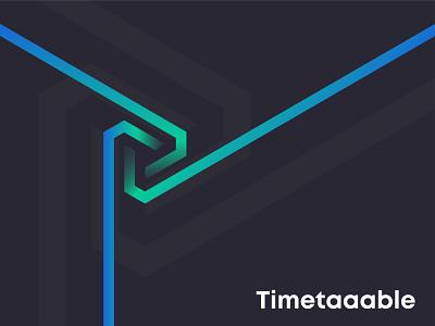 Branding for TimeTaaable graphic designer branding concept 3d art cool letter logo icon design brand identity logo designer branding logo design