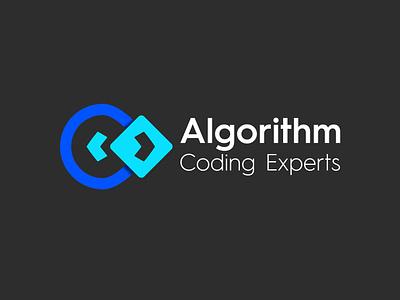 Algorithm Coding Experts logo and branding logos brand designer brand identity creative concept logo design brand coding symbol coding logo letter c logo letter a logo algorithm
