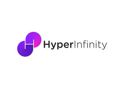 HyperInfinity Logo design and branding. minimal company logo mobile app icon creative design creative logo logo design concept brand designer brand identity branding gradient brand hyper logo h letter logo